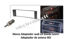 Marco Soporte auto-radio Seat Toledo Leon Audi A-3 + Adaptador de Antena Iso