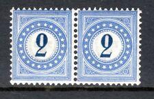 Switzerland - 1878 Postage Due -  Mi. 2 I N pair MNH