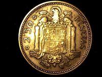 2,5 pesetas 1953 estrella 54 XF a VF- Spanish coin