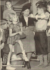 1940 vintage print photo ELEANOR ROOSEVELT with Young Polio Victims 043018