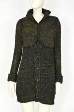 Yohji Yamamoto Y'S Women's Knit Long Sweater Cardigan Green Wool Mohair Size 2