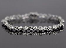 Simon G Platinum 0.75ct Round Diamond F VS1 7'' Tennis Bracelet