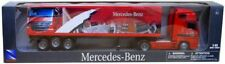 Trucks 1:43 / Mercedes Actros Box Trailer - Red / New item