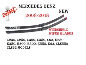 Windshield Wiper Blade Set For Mercedes C230 C250 C300 C350 C63 E350 E400 E550