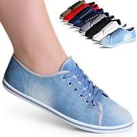 Damen Sneaker Turnschuhe Loafer Freizeitschuhe Basic Trendy