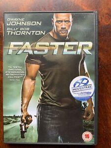 Faster DVD 2010 Revenge Thriller Action Movie with Dwayne The Rock Johnson
