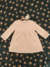 H & M Baby Girl Pink Cosy Tunic Dress 9-12 Months new with tags !