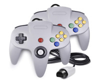 N64 Controller Game Joystick Gamepad Game System Grey Long Handle For Nintendo