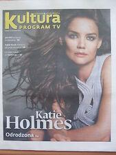 KULTURA Program Tv KATIE HOLMES on front cover in.Willem Dafoe,Beck,Norah Jones