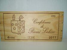 ESTAMPE FAÇADE DE CAISSE A VIN CONFIDENCES DE PRIEURE LICHINE 2011 / MARGAUX