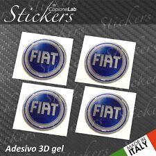 4 Adesivo Stickers Logo FIAT 2001 > 2006 resinato 3D 50 mm auto