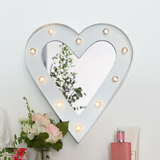 34CM BATTERY SHABBY CHIC BEDROOM DRESSER HOLLYWOOD VANITY LED HEART MIRROR LIGHT