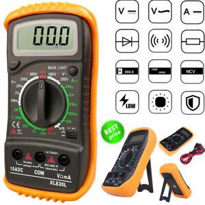 Multimètre Numérique AC DC LCD Ampèremètre Voltmètre Ampèremètre Actuel