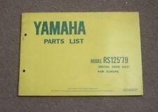 Yamaha RS Paper Motorcycle Repair Manuals & Literature