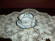 LOVELY ROYAL WORCESTER ROSEMARY DARK BLUE  CUP AND SAUCER