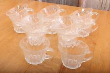 12 Vintage Glass Punch Glasses Flare Top