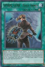 YUGIOH HOLO CARD SPYRAL GEAR - FULLY ARMED MACR-EN088 1ST EDITION