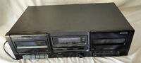 Kenwood Stereo Double Dual Cassette Deck KX-W1060 Component Tape Analog VTG