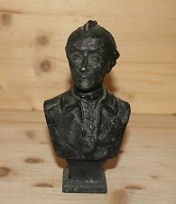Antique hand made metal man bust figurine