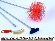 Kit Spazzacamino Flessibile 3 Metri Scovolo 200mm Nylon - Pulizia Canne Fumarie