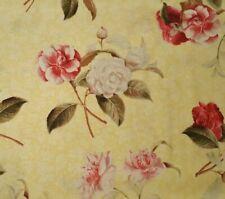 Sweetness BTY Tina Higgins Quilting Treasures Tonal Yellow Pink Rose Floral