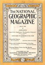 1928 National Geographic July - Crabs and Cyprus in color; Mississippi River