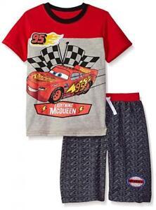 Disney Cars Boys S/S Top 2pc Short Set Size 4 5 6 7