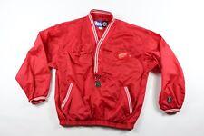Vintage 90s Pro Player Homme M Detroit Red Wings NHL Hockey Veste Nylon Rouge