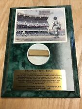 A Real Piece of Yankee Stadium Plaque
