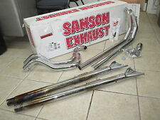 Samson Exhaust Muffler Set Slip Ons w/ Removable Long Tips FL4-456 1800-1541