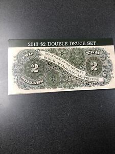 2013 BUREAU OF ENGRAVING $2 DOUBLE DEUCE SET   SANFRANCISCO-KANSAS CITY