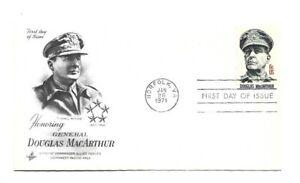 JH 1424 General Douglas MacArthur ArtCraft pencil address erased FDC
