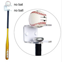 Baseball Bat wall mounted bracket holder hanger display rack natural finish