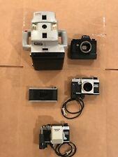 Topcon SL-5D AM-SL MT-1 Polaroid Macro 5 SLR Camera Lot - Parts Only