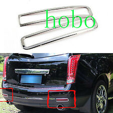 2pcs Car Chrome Rear Fog Light Lamp Cover Deco Trims for Cadillac SRX 2010-2015