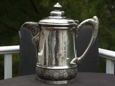 Ornate Quadruple Silverplate Pitcher Middletown Plate Co. Silver Plated #273