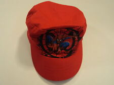 Gertex Boys' Hat Spiderman 100% Cotton Male Kids 2T-4T Reds