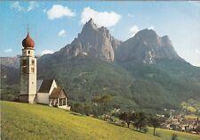 Alte Postkarte - Seis am Schlern - St. Valentin Kirche