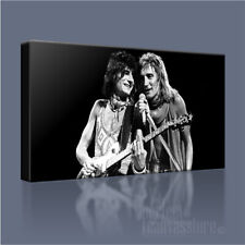 ROD STEWART RONNIE WOOD HAND-CRAFTED FACES ICONIC CANVAS ART PRINT +FREE UPGRADE