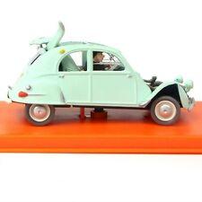 Miniature Tintin CITROEN 2CV accidentée Dupont Bijoux de la Castafiore Diecast