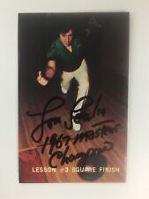 VTG Lou Scalia Autographed Bowling Card PBA 1970s Inscribed Lesson 3 SOP COA