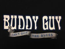 Buddy Guy 2009 Can't Quit The Blues Tour Black T-Shirt Guitar