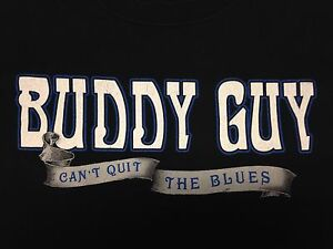 Buddy Guy 2009 Can't Quit The Blues Tour Black T-Shirt Guitar