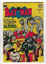 DC COMICS BATMAN 73 golden age 1952 FN- 5.5 appearance  Joker utility belt