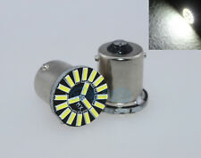 2Pcs 19SMD White Error Free Canbus Required 1156 1003 7506 LED Turn Signal Bulbs