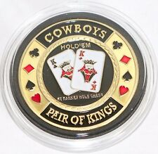 Cowboys Pair of Kings Hold'em Poker Coin Chip Card Guard Protector Cover New