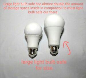 LARGE Light bulb Diversion Safe Hidden Stash safe Home Security Secret Stash