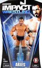 "TNA IMPACT Wrestling AUSTIN ARIES Superposeable 6"" toy figure, boxed wwe elite"