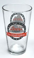 Coors Light US Armed Forces Pint Beer Glasses of New Beer Beverage Glass