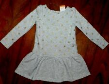 Gray Dress French Terry School Gold Dot Gymboree Girl size 4 New